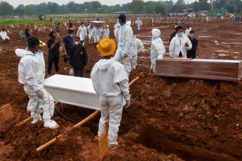 Indonesia COVID Burials
