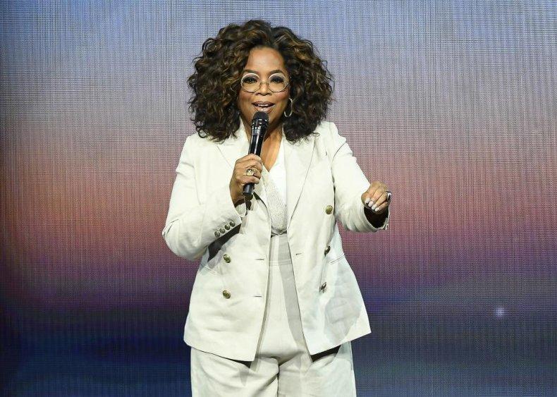 Oprah Winfrey: Grocery store clerk