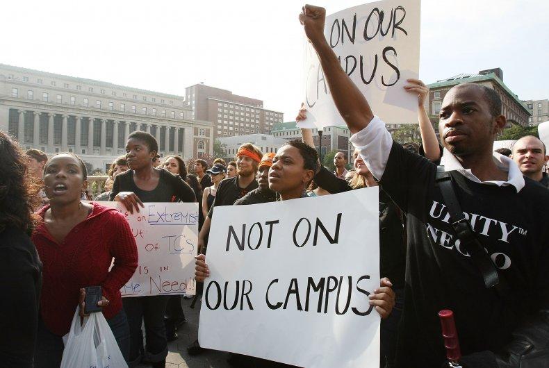 columbia university black students protest