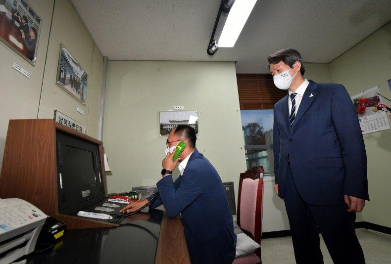 South, Korea, Unification, Minister, hotline, North, Korea