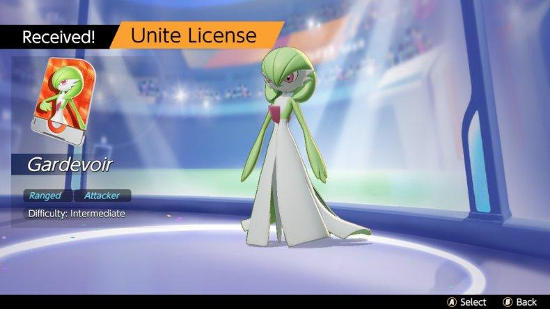 Gardevoir Unite License Recieved