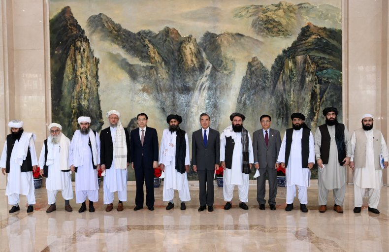 China, Wang, Taliban, Baradar, meet, Tianjin