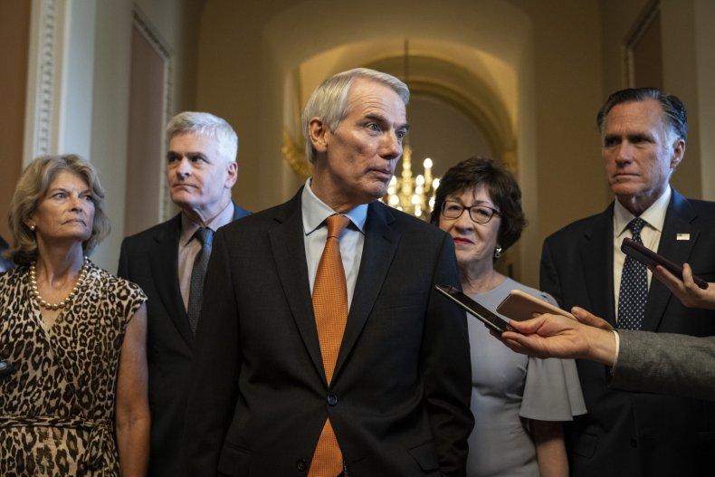 Senate Republicans bipartisan infrastructure bill vote