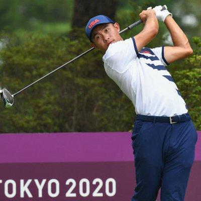 Collin Morikawa at the Tokyo Olympics