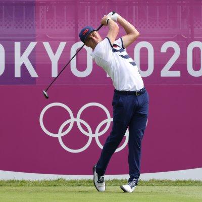 Justin Thomas at the Tokyo Olympics