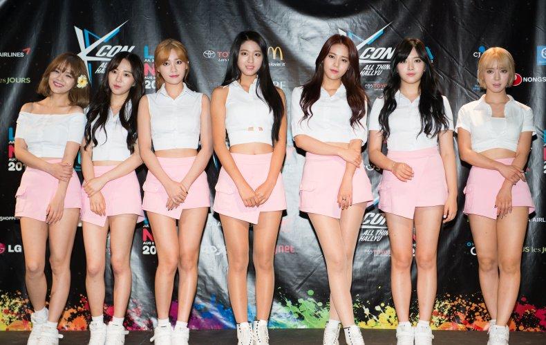 K-pop group AOA seen in 2015.