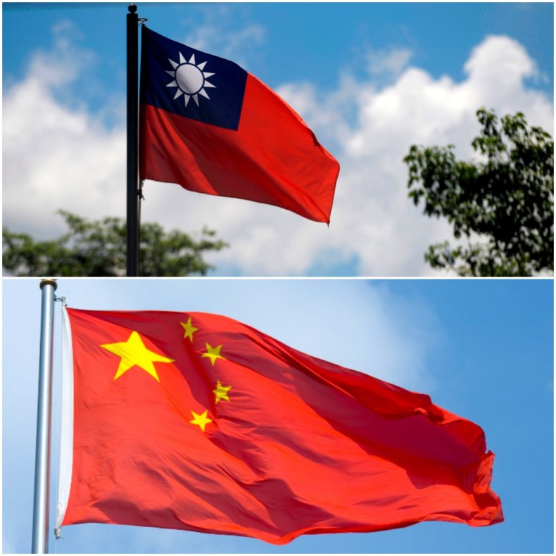 China and Taiwan Flags Compared