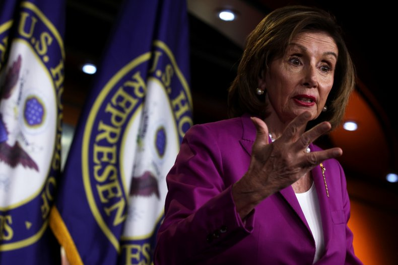 Pelosi Gives Her Weekly Press Conference