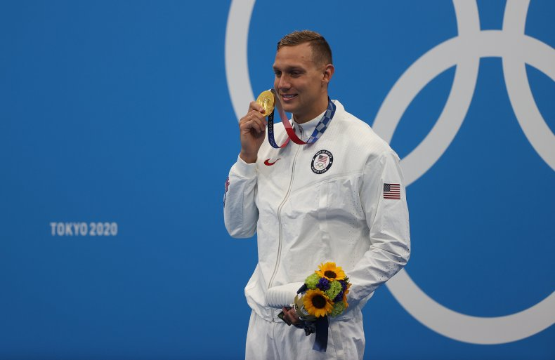 Caeleb Dressel at the Tokyo Olympics