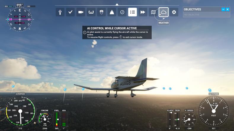 Microsoft Flight Simulator Toolbar
