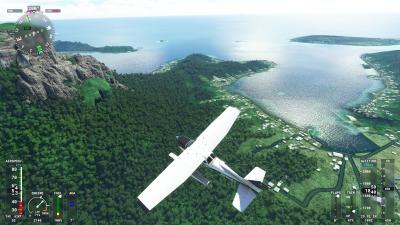 Flying Over Bora Bora