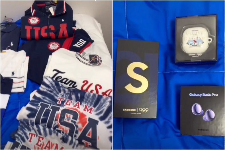 Olympics swag bags