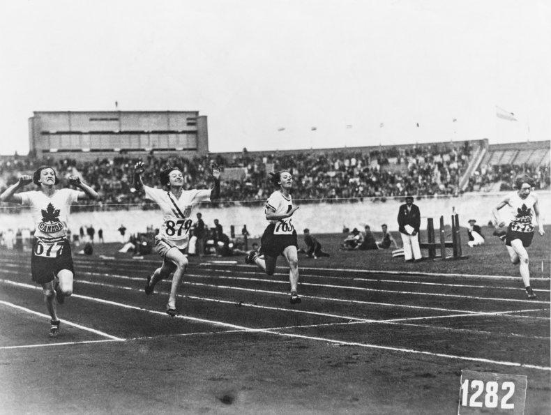 Betty Robinson at the 1928 Olympics.