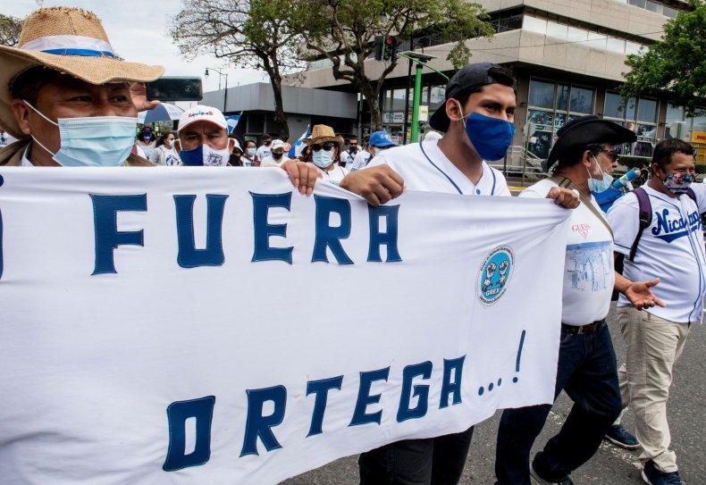 Nicaraguan Demonstrators in Costa Rica