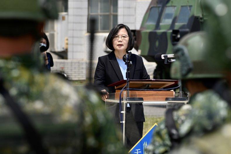 Taiwan President Addresses Troops