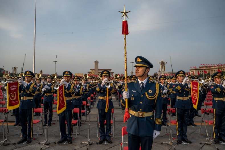 China Troops Mark Communist Party Anniversary