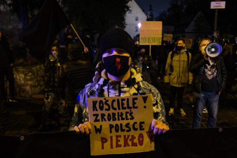Polish protests against Catholic Church