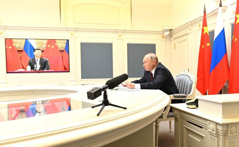 China, Xi, virtual, talks, Russia, Putin