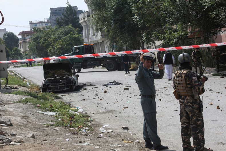 Afghanistan, rocket, attack, presidential, palace, Kabul