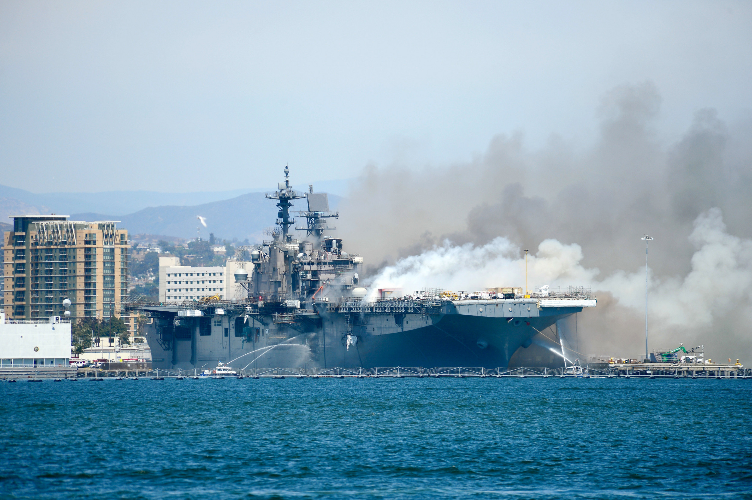 Navy Charges Sailor in Multi-Day USS Bonhomme Richard Fire