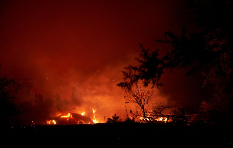 The Zogg Fire in California