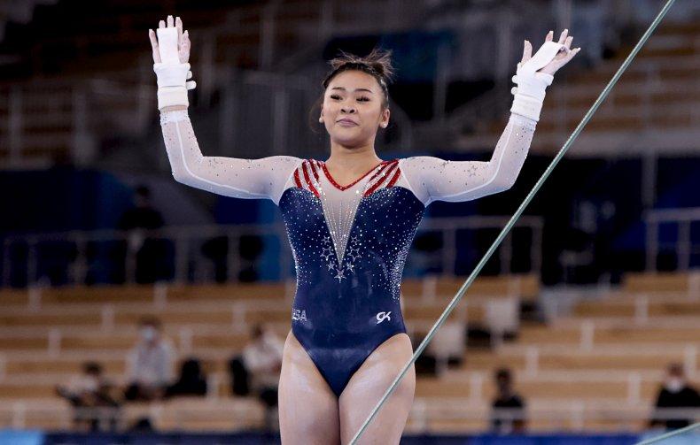 Sunisa Lee at Tokyo 2020 final.