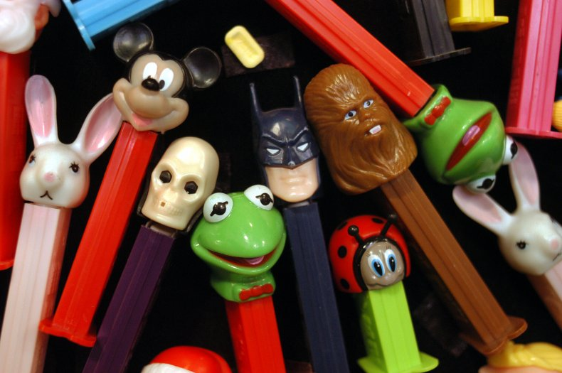 Pez dispensers with character heads