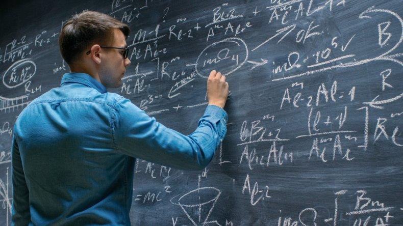 A man doing mathematics