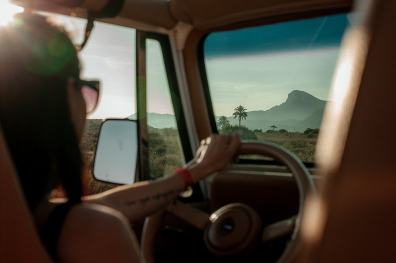 File photo of a woman driving.
