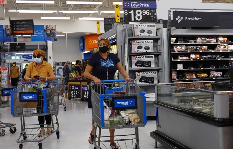 Walmart Customers in Masks