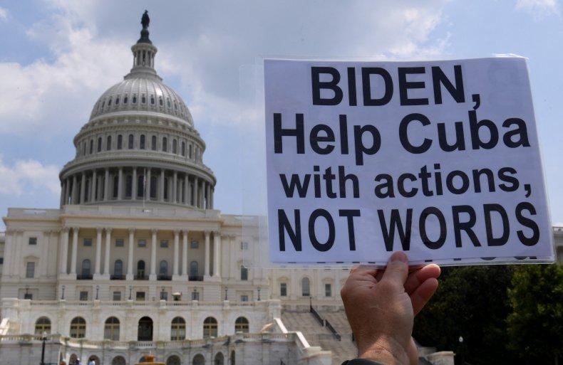 """""""Biden, Help Cuba"""" Sign"""