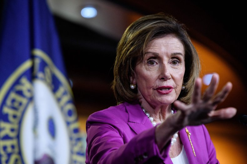 Pelosi Gives Her Weekly Press Conference.