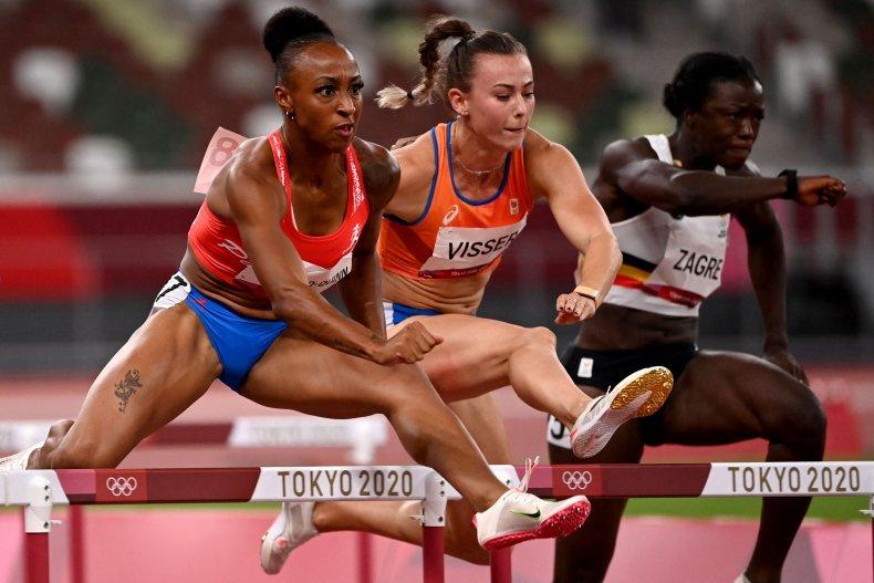 Jasmine Camacho-Quinn set record in Tokyo hurdles