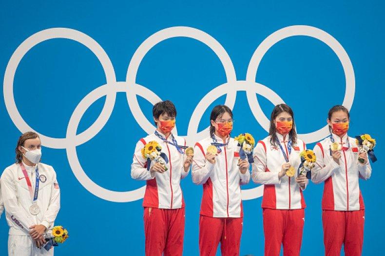 China and US Swimming
