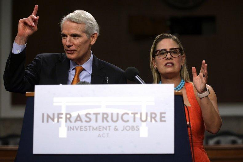 Portman, Sinema bipartisan infrastructure deal finalized