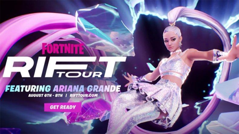 Ariana Grande Rift Tour Keyart