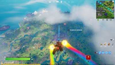 Skydiving to the Party UFO in Fortnite