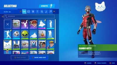 The Cloud Kitty Emoticon in Fortnite