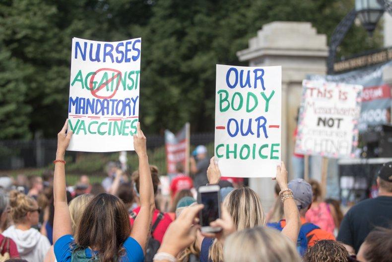 Atrium Health vaccine protest