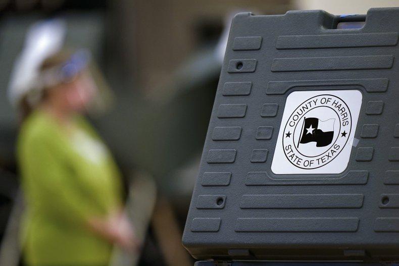 Voting Machine in Houston, Texas