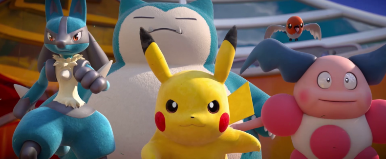 Pikachu, Lucario, Snorlax, Mr Mime and Fletchling