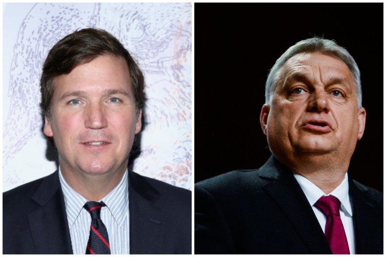 Tucker Carlson and Viktor Orban