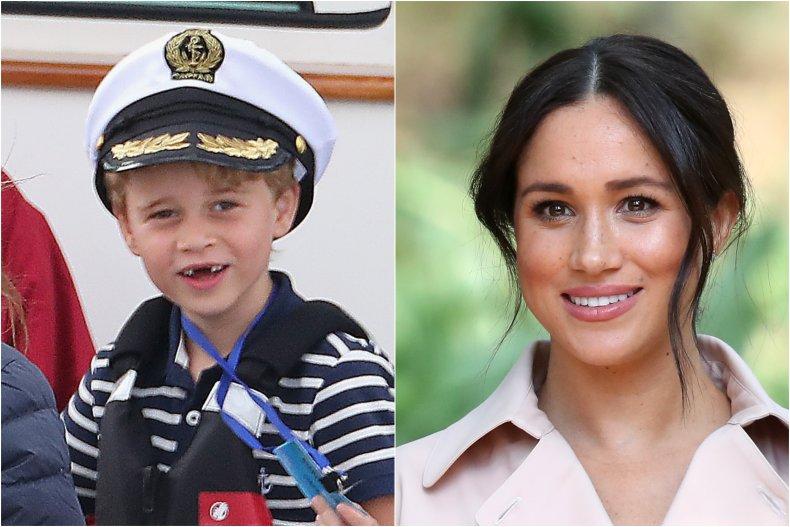 Prince George and Meghan Markle