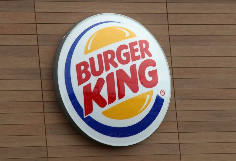 General view of a Burger King sign.
