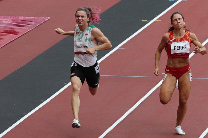 Belarusian sprinter calls for sanctions