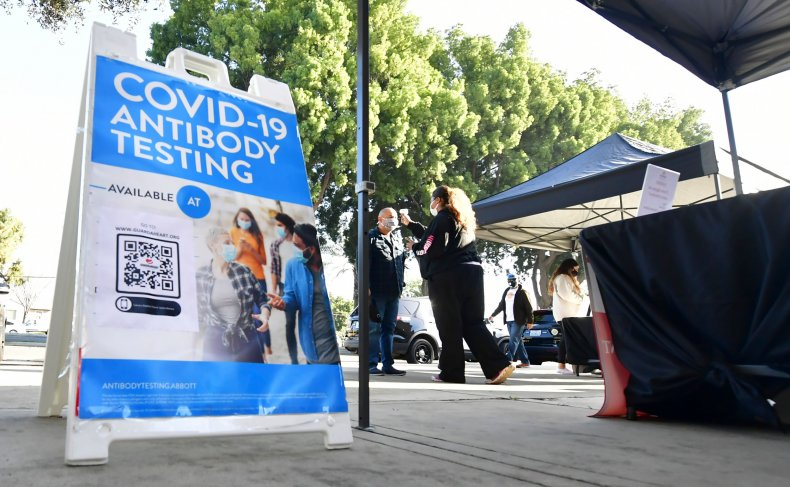 People Arrive for COVID-19 Testing in California