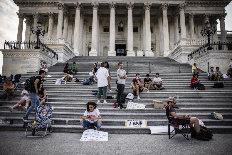 Eviction moratorium protest