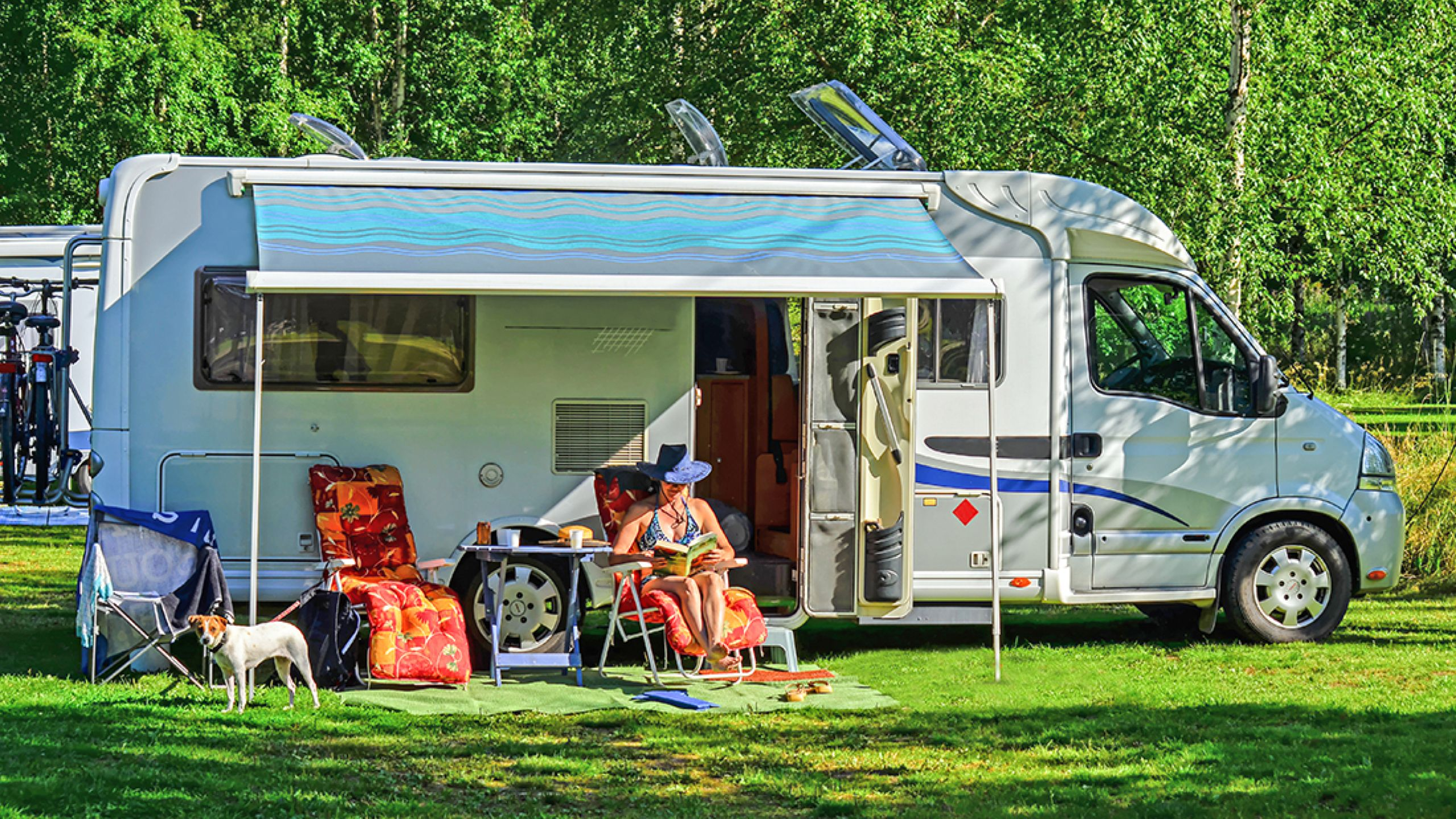RV camping with a pet