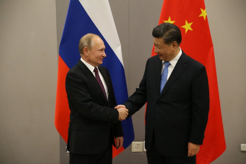 Russia, Putin, China, Xi, meet, BRICS
