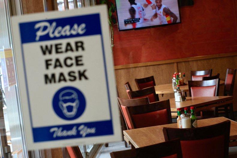 Sign in new York restaurant